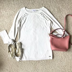 Calvin Klein Long Pullover Sweater White Size S